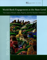World Bank Engagement at the State Level - World Bank
