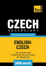 T &P English-Czech vocabulary 3000 words - Andrey Taranov