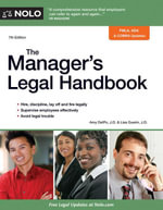 Manager's Legal Handbook, The - Amy Delpo