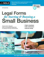 Legal Forms for Starting & Running a Small Business - Fred S. Steingold