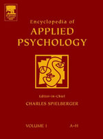 Encyclopedia of Applied Psychology, Three-Volume Set