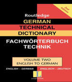 German Technical Dictionary (Volume 2) - Routledge