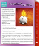 US Income Tax Tips : Speedy Study Guides - Speedy Publishing