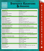 Statistics Equations & Answers : Speedy Study Guides - Speedy Publishing