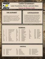 Latin Grammar : Latin Translation, Phrase, and Latin Rules Guide - Alivia Allbus