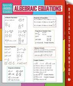 Algebraic Equations (Speedy Study Guides) - Speedy Publishing