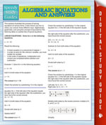 Algebraic Equations And Answers (Speedy Study Guides) - Speedy Publishing