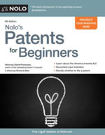 Nolo's Patents for Beginners : Quick & Legal - David Pressman