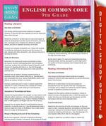 English Common Core 9th Grade (Speedy Study Guides) - Speedy Publishing