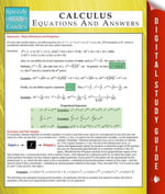 Calculus Equations And Answers (Speedy Study Guides) - Speedy Publishing