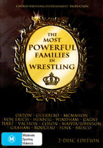 The Most Powerful Families In Wrestling : WWE : 2 Disc Set - David Von Erich