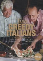 Two Greedy Italians : Complete Series 1 : 2 DVD Set & 4 Recipe Cards - Gennaro Contaldo