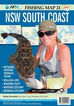 New South Wales NSW South Coast : AFN Fishing Map 21 : AFN Fishing Maps - Bill Classon