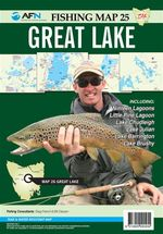 Tasmania Great Lake : AFN Fishing Map 25 : AFN Fishing Maps - Bill Classon