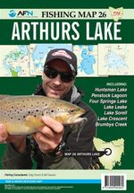 Tasmania Arthurs Lake : AFN Fishing Map 26 : AFN Fishing Maps - Bill Classon