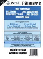 Lake Glenbawn, Lake Lyell, Lake Windamere, Ben Chifley Dam, Lake Oberon & Carcoar Dam : AFN Fishing Map 11 - Bill Classon