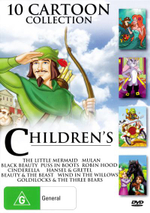Children's Cartoon Collection (Black Beauty/Puss in Boots/Cinderella/Wind in the Willows/Hansel and Gretel/Mulan/Robin Hood/Little Mermaid/Goldilocks