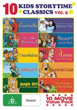 Kids Storytime Classics : Volume 2 (Cinderella/The Little Mermaid/Thumbelina/Camelot/Jungle Girl: and the Lost Island of Dinosaurs/The New Adventures o