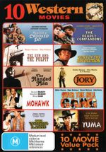 10 Western Movies (Against a Crooked Sky/The Gun and the Pulpit/The Hanged Man/Mohawk/The Young Land/The Deadly Companions/Guns of the Revolution/Jory - Clint Walker
