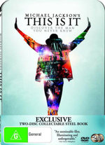 Michael Jackson : This Is It (2 Disc Steelbook DVD) - Michael Jackson