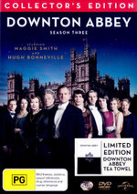 Downton Abbey : Season 3 (Limited Edition with Bonus Tea Towel) (5 Discs) - Maggie Smith