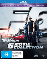 Fast and Furious : Collection 1-6 (Fast and Furious/2 Fast 2 Furious/Tokyo Drift/Fast and Furious 4/Fast and Furious 5/Fast and Furious 6) (Blu-ray/UV) - Vin Diesel