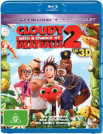 Cloudy With a Chance of Meatballs 2 (3D Blu-ray/UV) (2 Discs) - Bill Hader