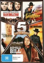 5 Movie Collection - Western (Buffalo Bill / The Gunfighter / My Darling Clementine / The Bravados / Bandolero!) (5 Disc Set)