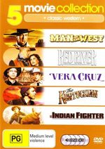 5 Movie Collection - Classic Western (Man Of The West / Red River / Vera Cruz / The Kentuckian / The Indian Fighter) (5 Disc Set)