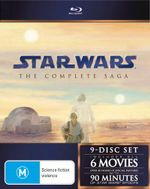 Star Wars : The Complete Saga (6 Movies 9 Discs)
