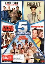 Comedy 5-Pack (Hot Tub : Time Machine/Borat/Epic Movie - Uncut/DodgeBall/Super Troopers) - Rob Corddry