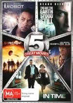 Sci-Fi 5-Pack (I, Robot / The Day the Earth Stook Still / Sunshine / Babylon A.D. : Raw and Uncut / In Time) - Will Smith