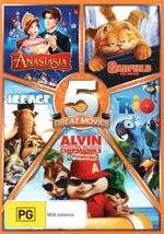 Anastasia / Garfield : the Movie / Rio / Alvin and the Chipmunks: Chipwrecked  / Ice Age - Jesse McCartney