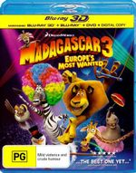 Madagascar 3 : Europe's Most Wanted (3D Blu-ray/Blu-ray/DVD/Digital Copy) - Ben Stiller