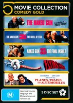 Flying High! / Planes, Trains and Automobiles / The Naked Gun / The Naked Gun 2 1/2 / The Naked Gun 33 1/3 (Comedy Gold) (5 Discs) - Robert Goulet