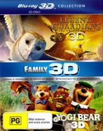 Legend of the Guardians : The Owls of Ga'hoole / Yogi Bear (2010) (3D Blu-ray Double) (2 Discs) - Jim Sturgess