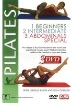 Pilates - Beginners / Intermediate / Abdominals Special (3 Disc Set)