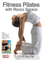 Fitness Pilates with Rocco Sorace (Body Tone / Intermediate Workout / Advanced Workout) 3-DVD Triple Pack with eCookbook