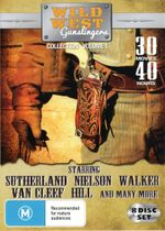 Wild West Gunslingers : Collection Volume 1 (8 Discs, 29 Movies) - Donald Sutherland