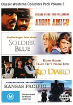 Classic Westerns Collectors Pack Volume 3 (Adioos Amigo / Soldier Blue / Rio Diablo / Kansas Pacific) - Eve Miller