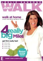 Leslie Sansone : Just Walk - 4 Really Big Miles (Bonus Toning Band) - Lesley Sansone