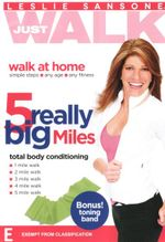 Leslie Sansone : Just Walk: 5 Really Big Miles (Bonus - Toning band!) - Leslie Sansone