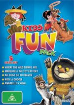 Kids Fun Pack  : Where the Wild Things Area, Madeline & the Toy Factory, All Dogs Go To Heaven, Rock a Doodle, Annabelle's Wish