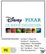 Disney Pixar 13 Movie Collection Boxset (Includes : Brave/Toy Story/A Bugs Life/Toy Story 2/Monsters Inc/Finding Nemo/ The Incredibles/Cars/Wall-E/Up!) - Larry The Cable Guy