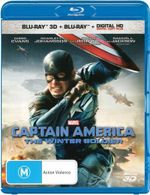 Captain America The Winter Soldier  : Blu-Ray 3D + Blu-Ray + Digital HD  - Chris Evans