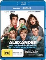 Alexander and the Terrible, Horrible, No Good, Very Bad Day  : Blu-ray/Digital Copy - Steve Carell