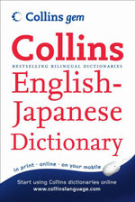 Collins Gem English-Japanese Dictionary - HarperCollins UK Staff