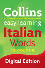 Easy Learning Italian Words (Collins Easy Learning Italian) : Collins Easy Learning Italian - Collins