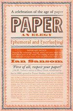 Paper : An Elegy - Ian Sansom