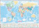 Collins World Wall Laminated Map - Collins UK